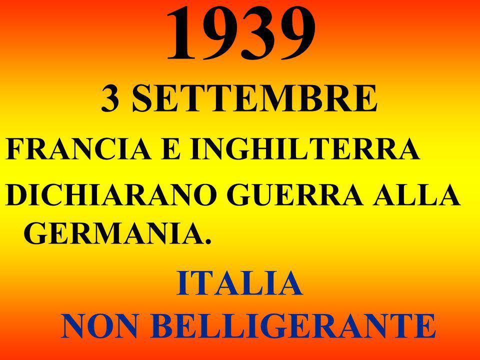 ITALIA NON BELLIGERANTE