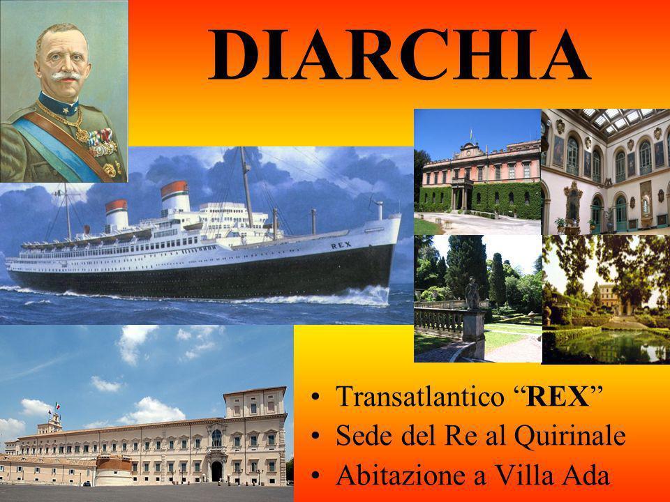 DIARCHIA Transatlantico REX Sede del Re al Quirinale