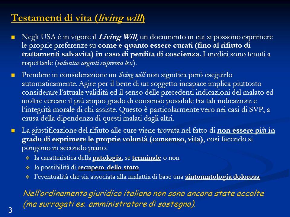 Testamenti di vita (living will)
