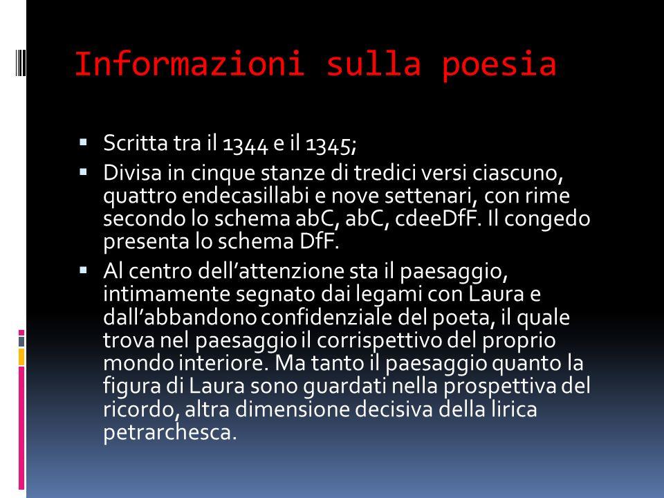 Informazioni sulla poesia