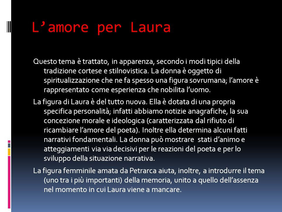 L'amore per Laura
