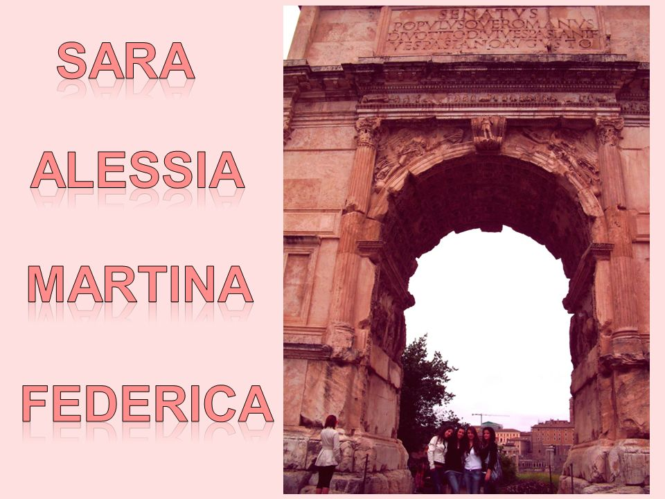 SARA ALESSIA MARTINA FEDERICA