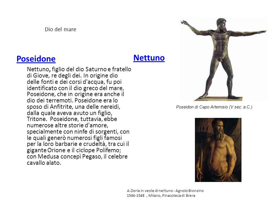 Dio del mare Poseidone. Nettuno.