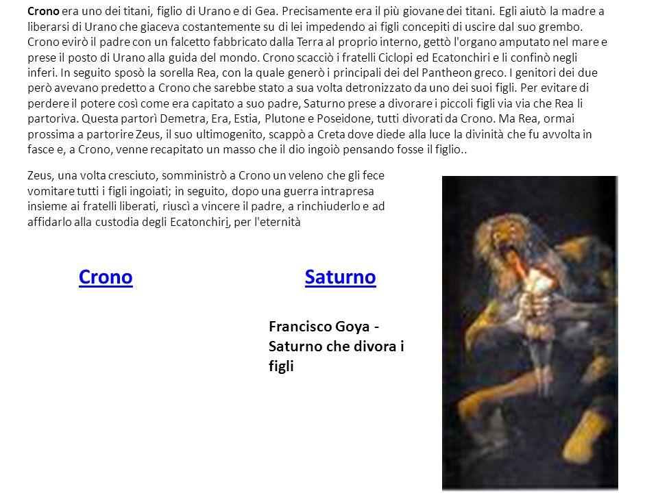 Crono Saturno Francisco Goya - Saturno che divora i figli