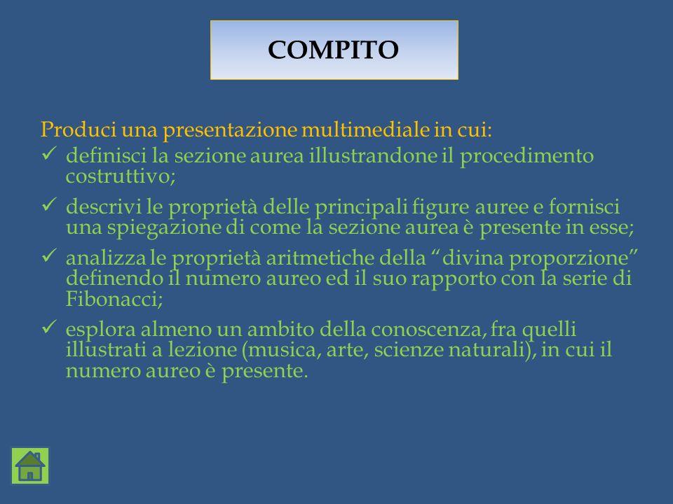 COMPITO Produci una presentazione multimediale in cui: