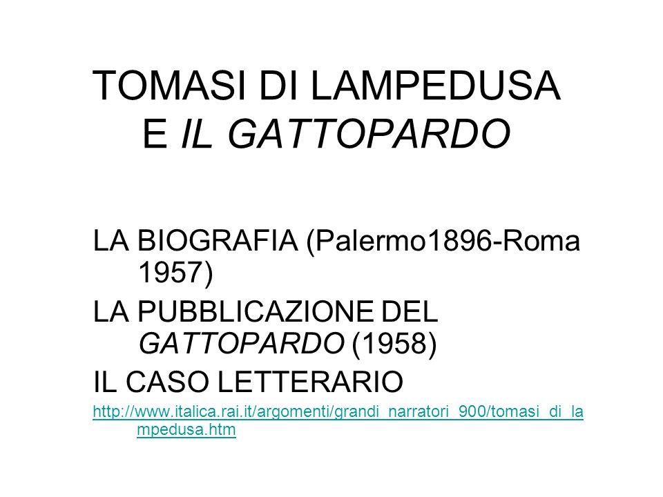 TOMASI DI LAMPEDUSA E IL GATTOPARDO