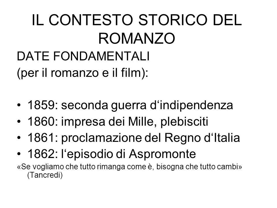 IL CONTESTO STORICO DEL ROMANZO