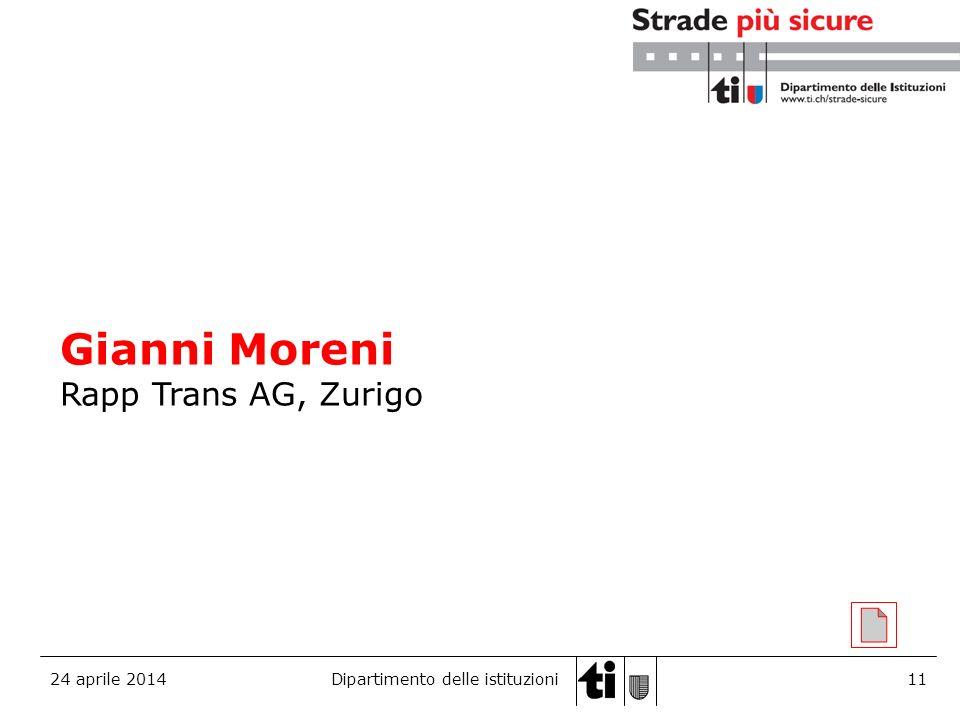 Gianni Moreni Rapp Trans AG, Zurigo 29 marzo 2017