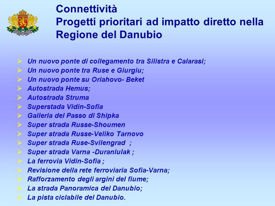 Connettività Progetti prioritari ad impatto diretto nella Regione del Danubio