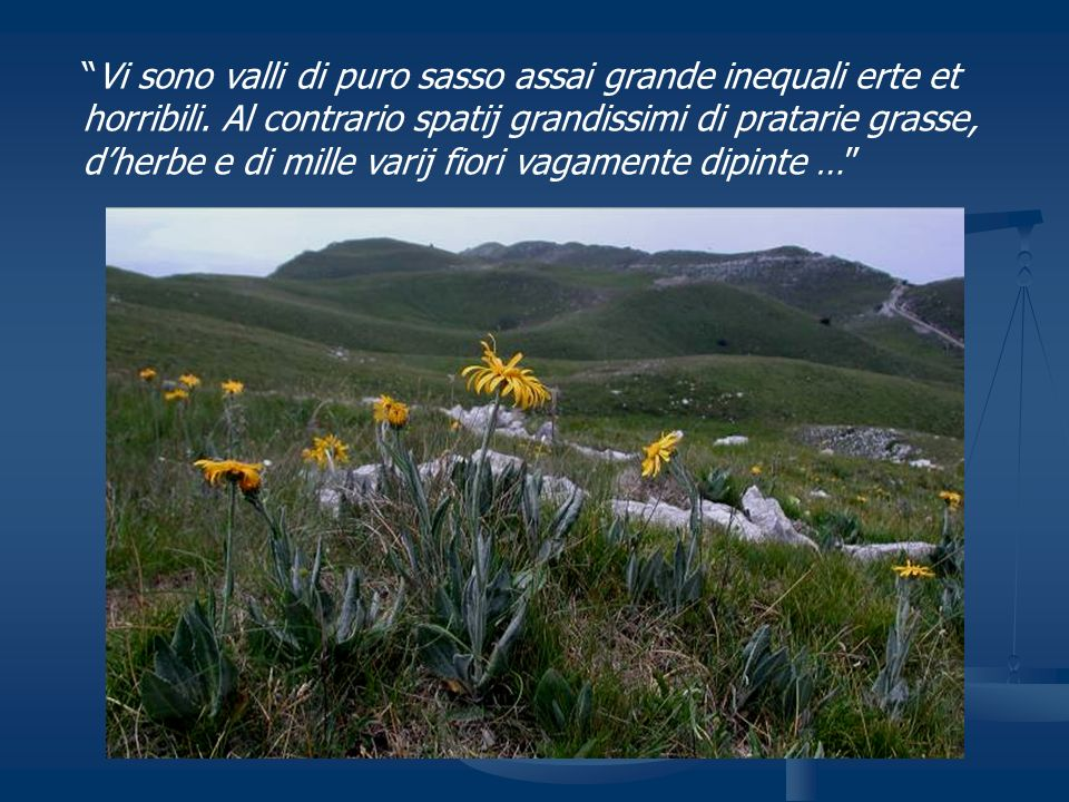 Vi sono valli di puro sasso assai grande inequali erte et horribili