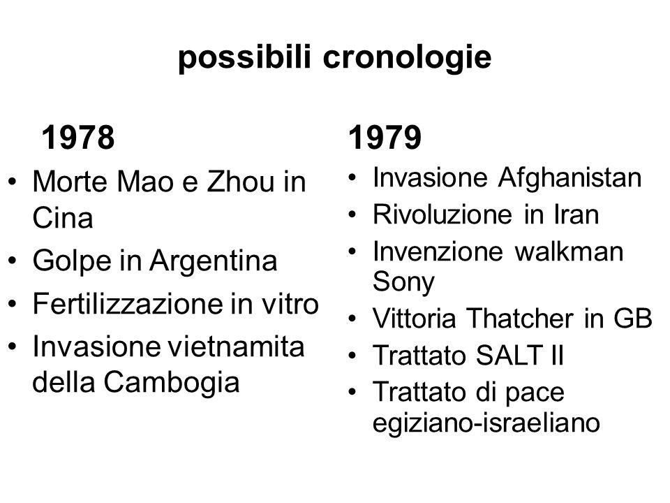possibili cronologie 1978 1979 Morte Mao e Zhou in Cina