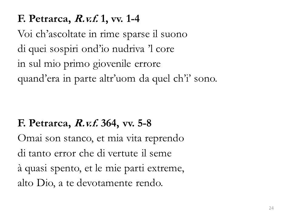F. Petrarca, R.v.f. 1, vv.