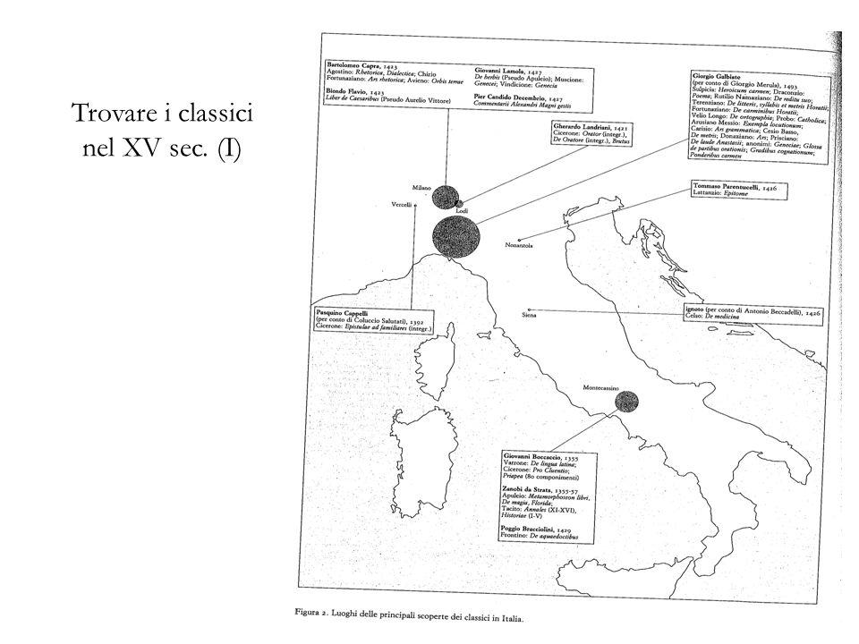 Trovare i classici nel XV sec. (I)