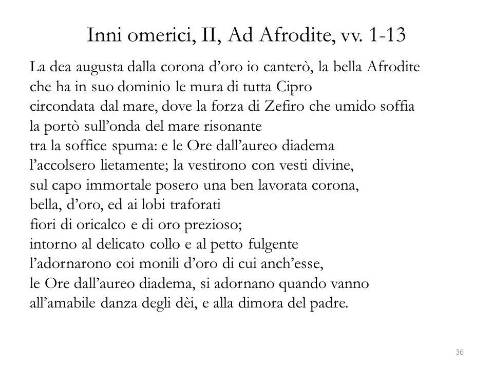 Inni omerici, II, Ad Afrodite, vv. 1-13
