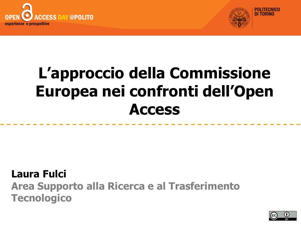 L'approccio della Commissione Europea nei confronti dell'Open Access