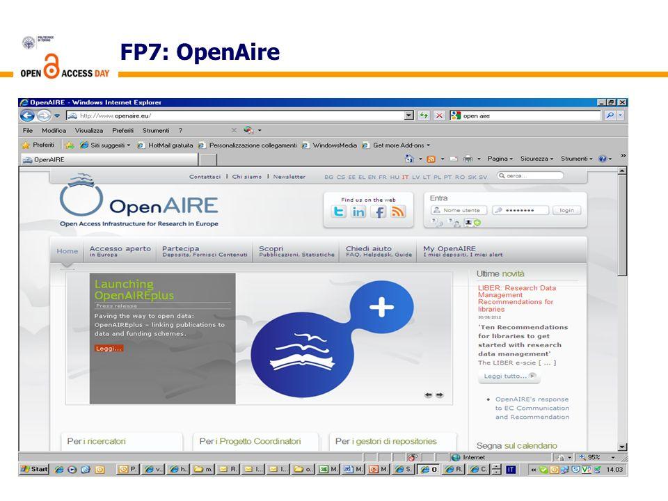 FP7: OpenAire 4
