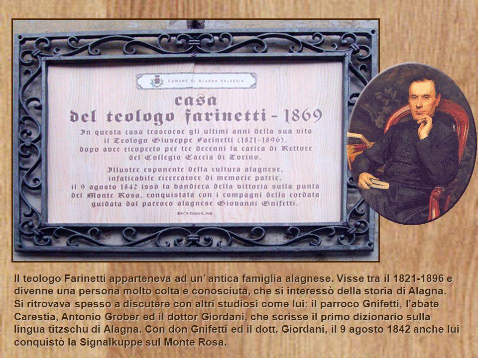 Il teologo Farinetti apparteneva ad un' antica famiglia alagnese