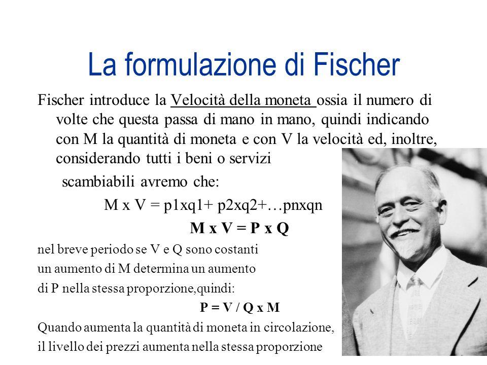 La formulazione di Fischer