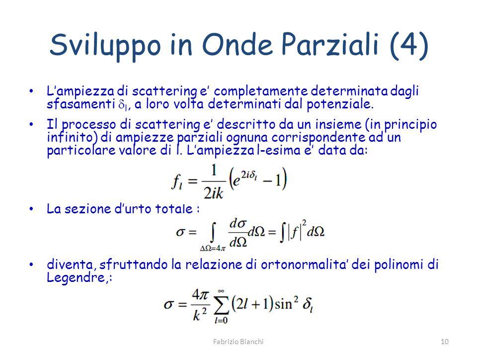 Sviluppo in Onde Parziali (4)