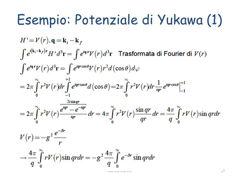 Esempio: Potenziale di Yukawa (1)