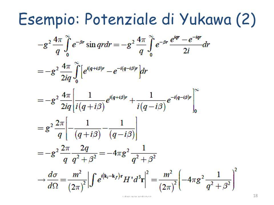 Esempio: Potenziale di Yukawa (2)