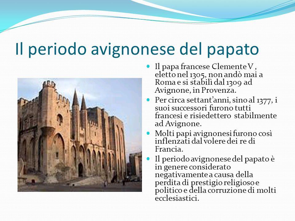 Il periodo avignonese del papato