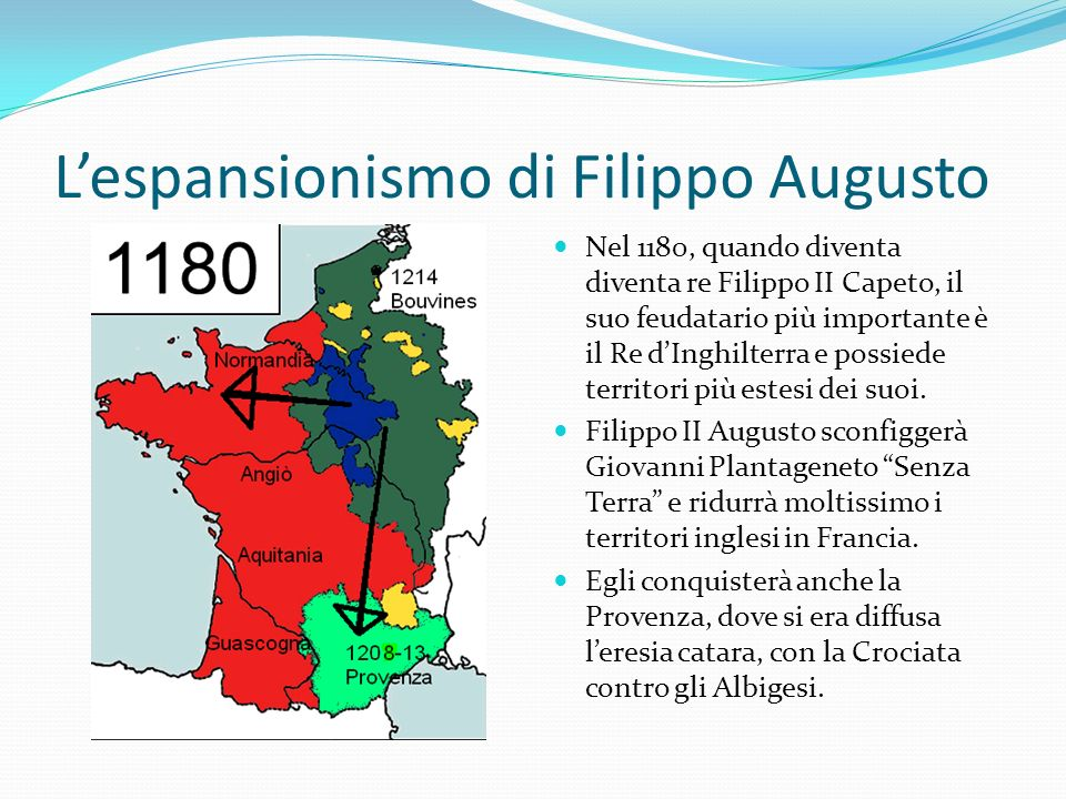 L'espansionismo di Filippo Augusto