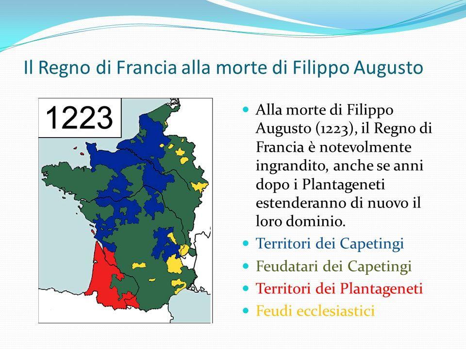 Il Regno di Francia alla morte di Filippo Augusto