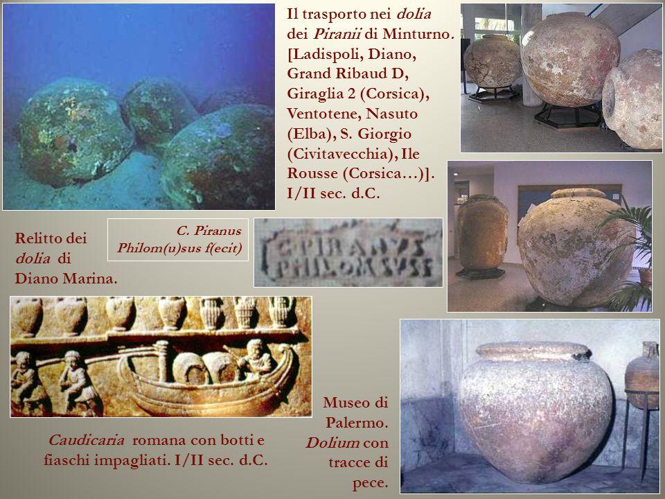 Caudicaria romana con botti e fiaschi impagliati. I/II sec. d.C.