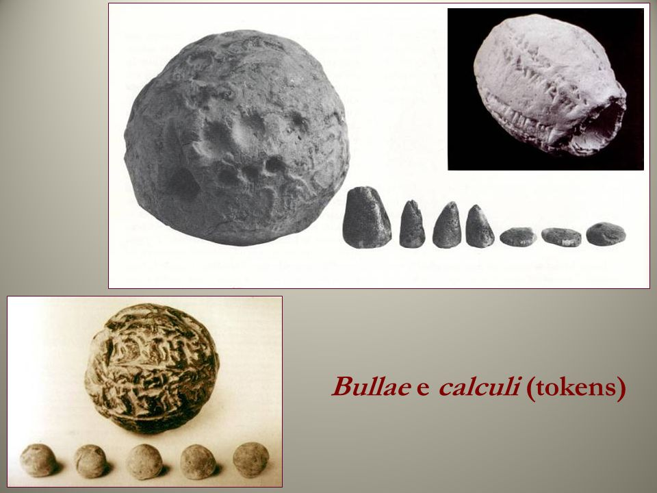 Bullae e calculi (tokens)