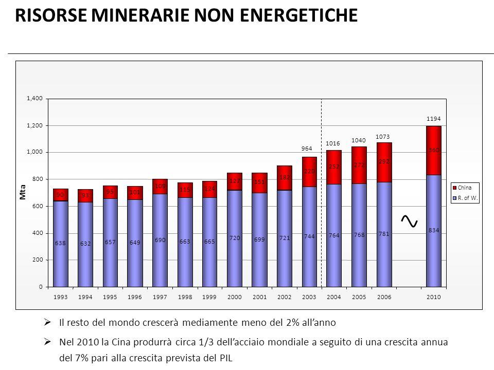 RISORSE MINERARIE NON ENERGETICHE