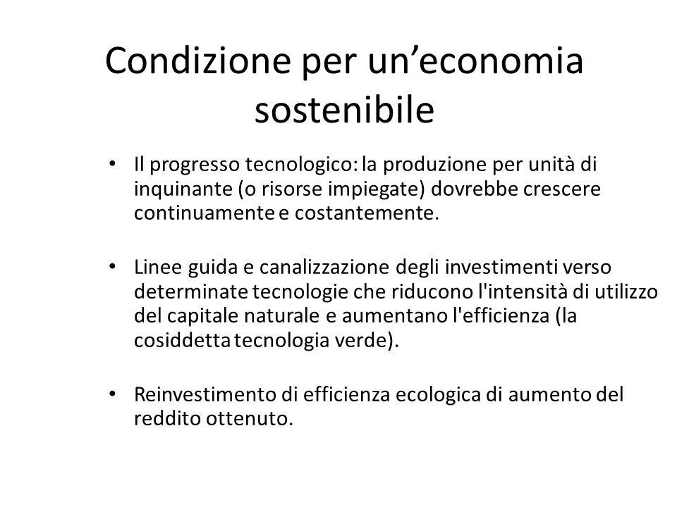Condizione per un'economia sostenibile