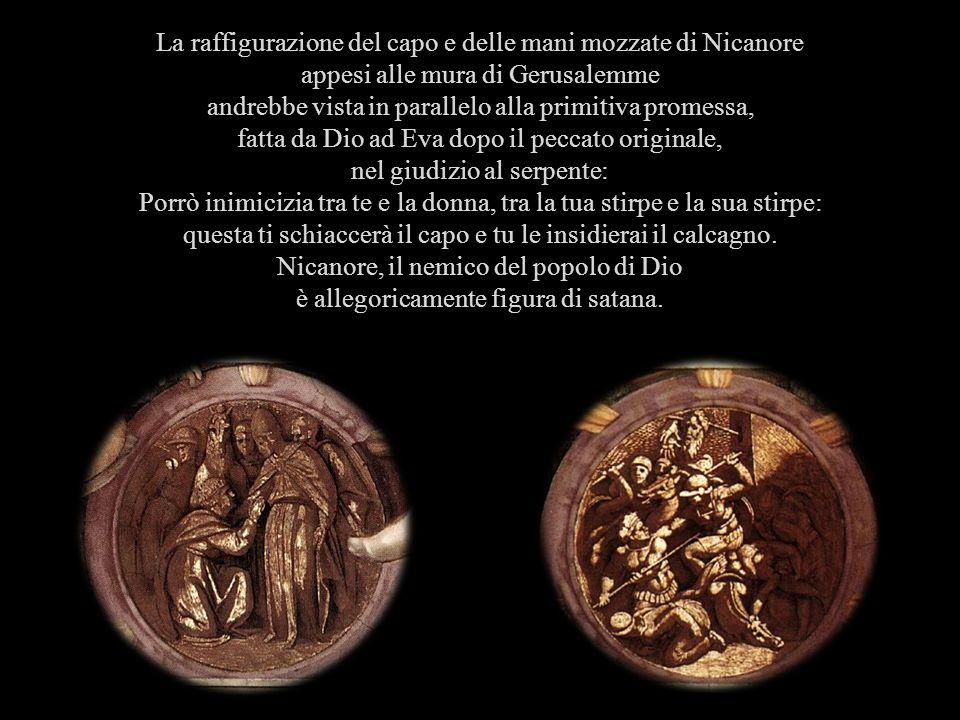 La raffigurazione del capo e delle mani mozzate di Nicanore
