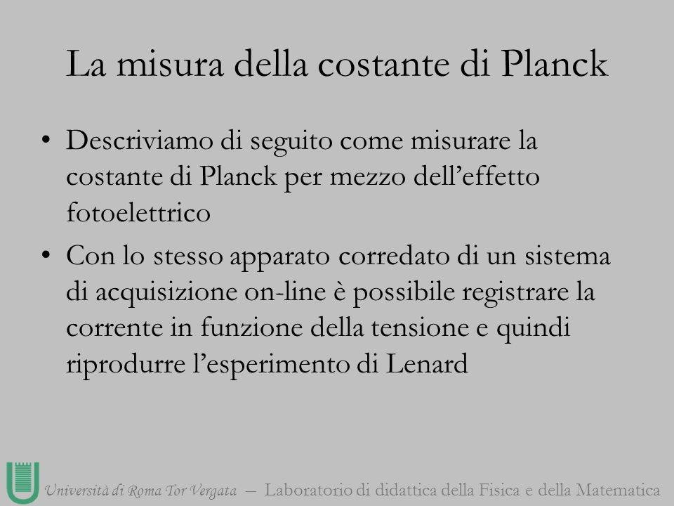 La misura della costante di Planck