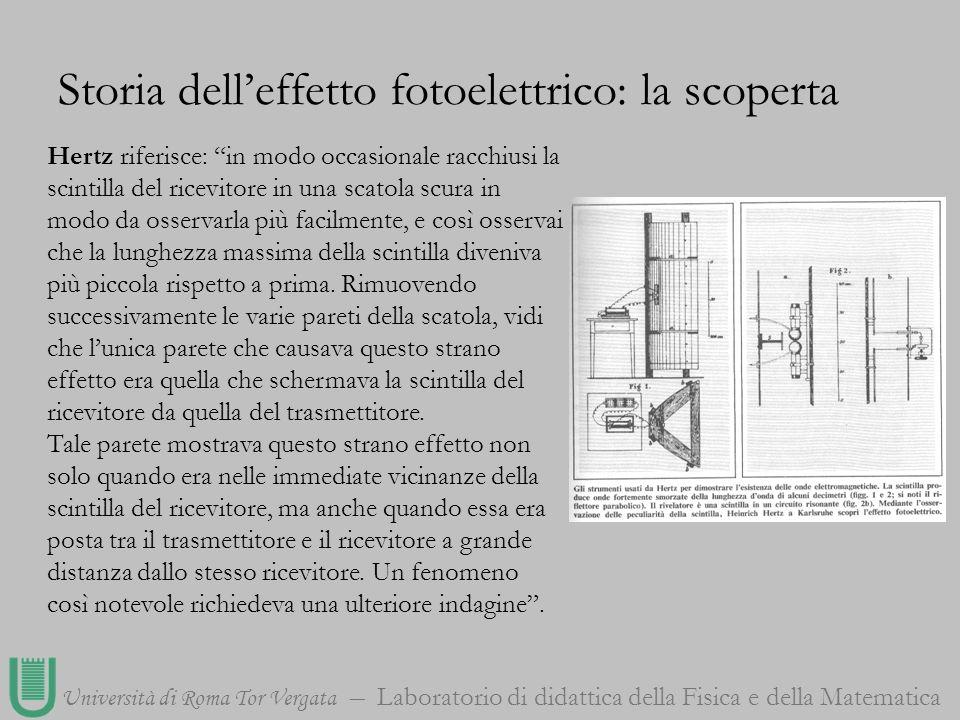 Storia dell'effetto fotoelettrico: la scoperta