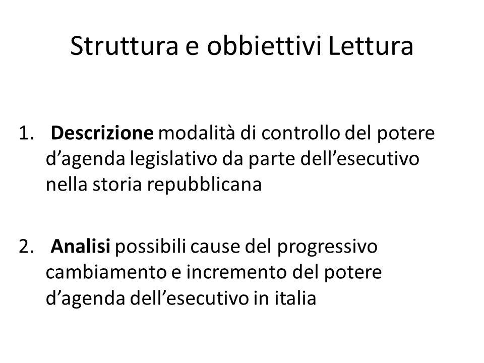 Struttura e obbiettivi Lettura