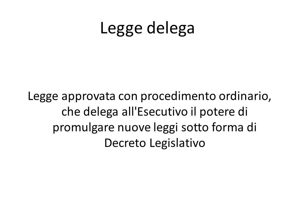 Legge delega