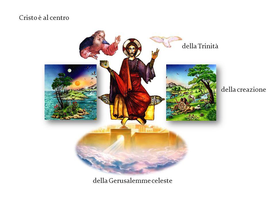 Cristo è al centro della Trinità della creazione della Gerusalemme celeste
