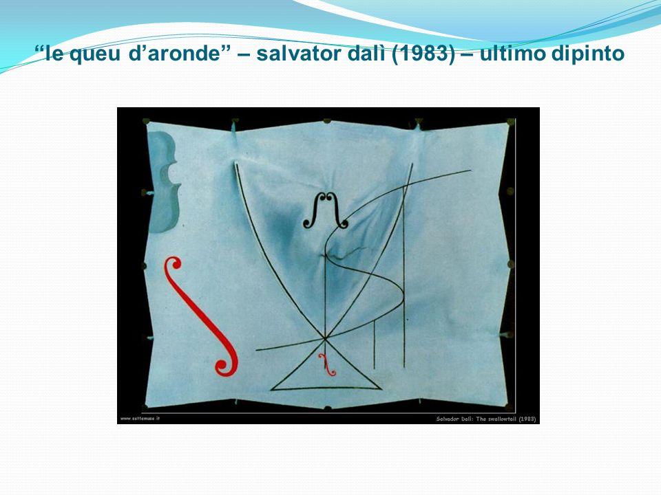 le queu d'aronde – salvator dalì (1983) – ultimo dipinto