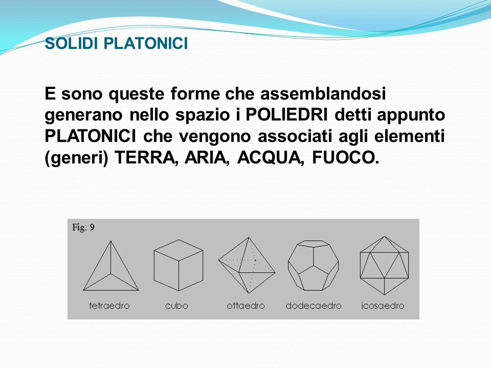SOLIDI PLATONICI