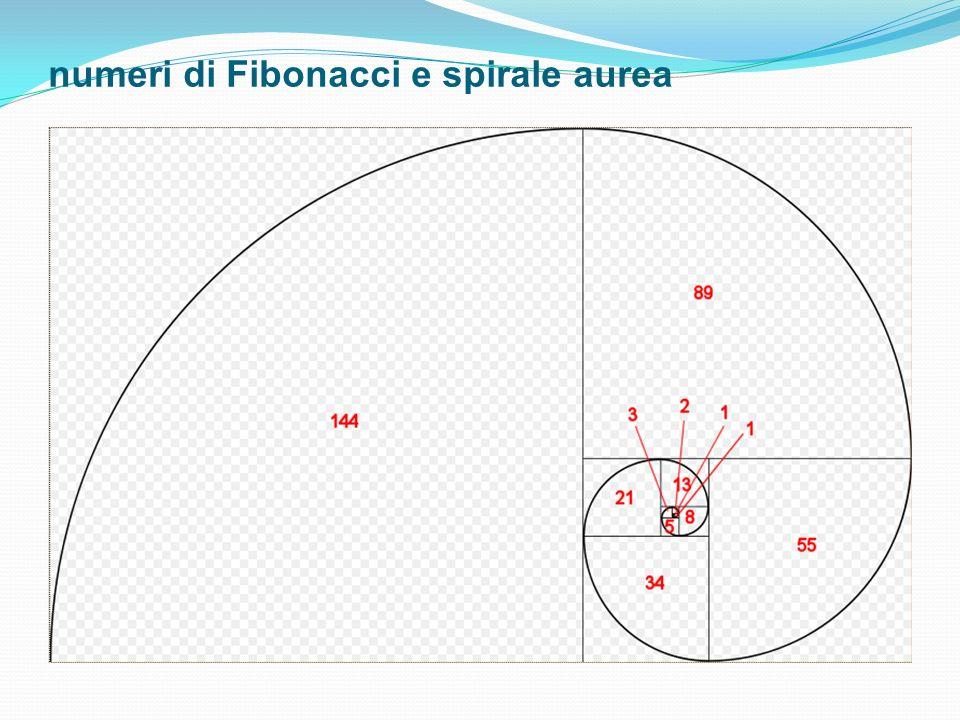 numeri di Fibonacci e spirale aurea