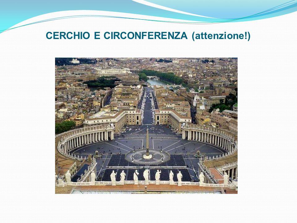 CERCHIO E CIRCONFERENZA (attenzione!)