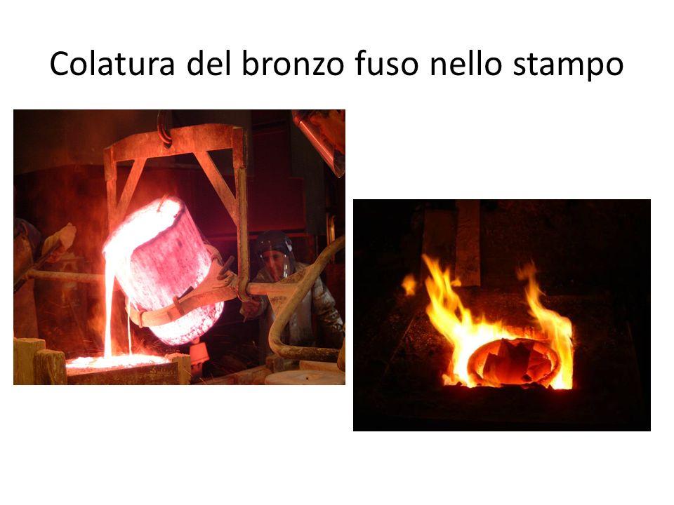 Colatura del bronzo fuso nello stampo