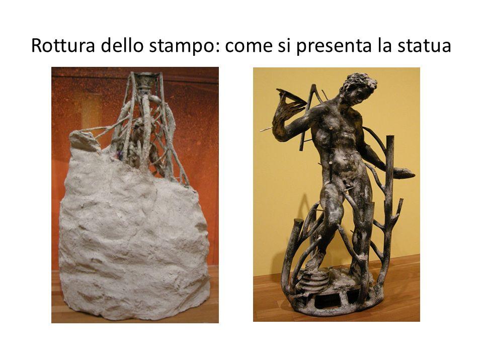 Rottura dello stampo: come si presenta la statua