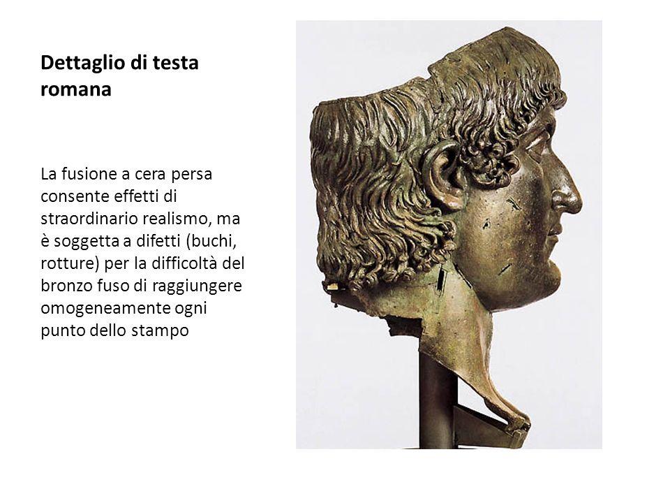 Dettaglio di testa romana
