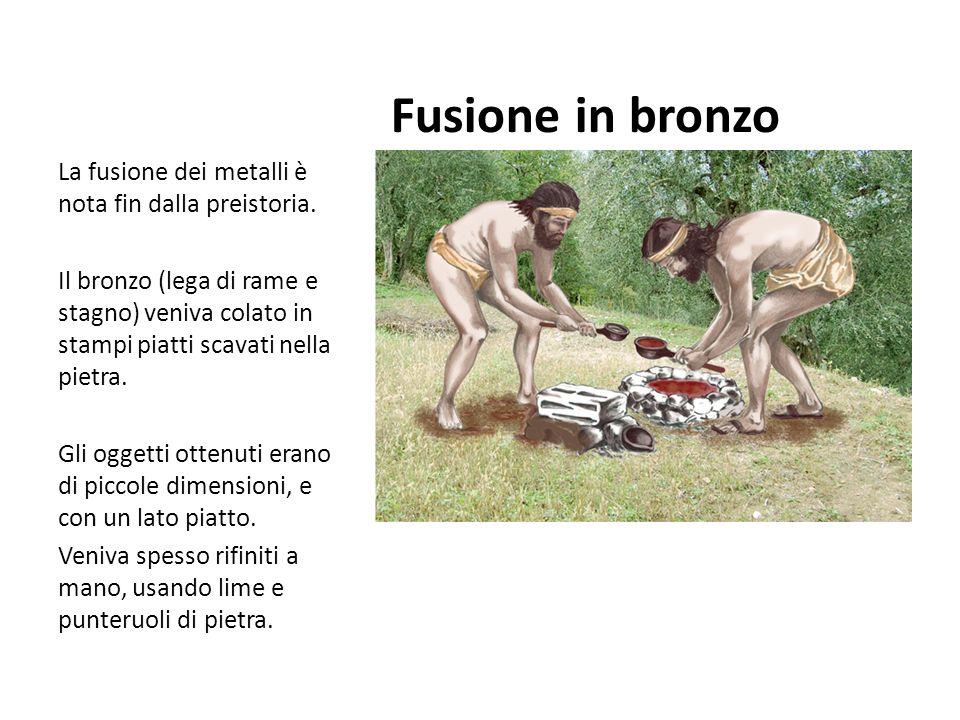 Fusione in bronzo La fusione dei metalli è nota fin dalla preistoria.