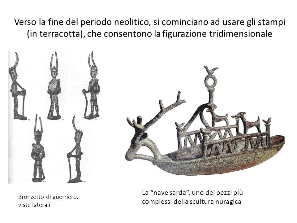 Verso la fine del periodo neolitico, si cominciano ad usare gli stampi (in terracotta), che consentono la figurazione tridimensionale