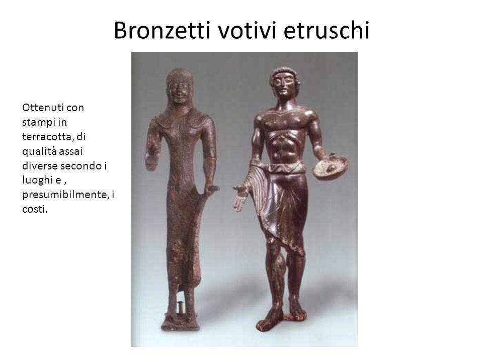Bronzetti votivi etruschi