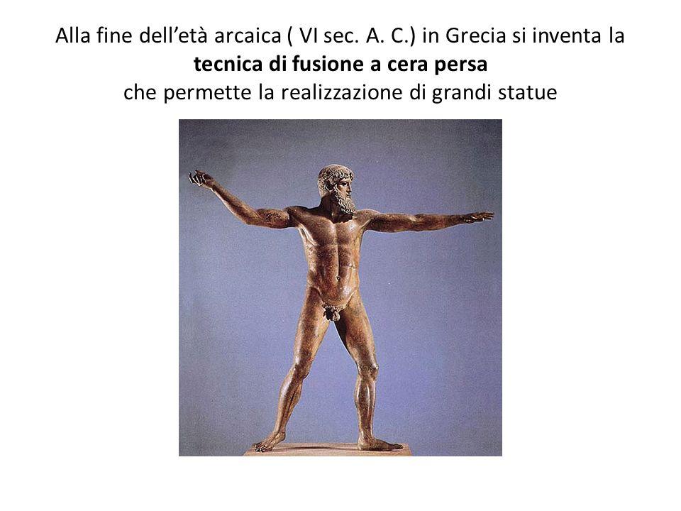 Alla fine dell'età arcaica ( VI sec. A. C