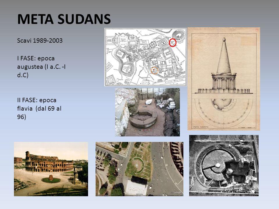 META SUDANS Scavi 1989-2003 I FASE: epoca augustea (I a.C. -I d.C)